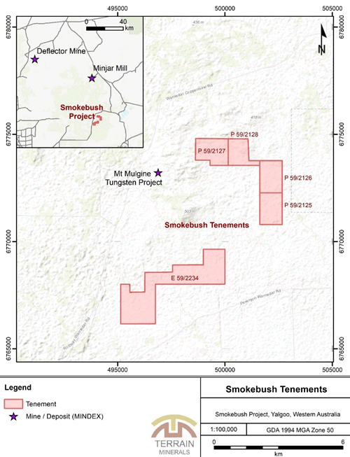 Figure 1: Smokebush Project Location